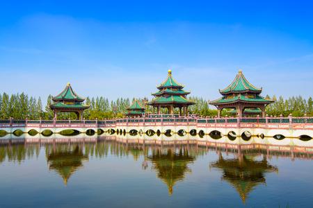 kunming: Chinese pavilion bridge in Thailand