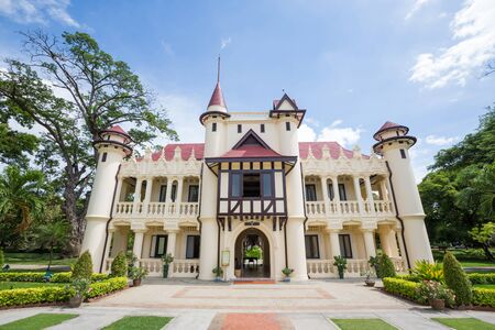 Sanam Chan Palace is structured like a small castle built in a combination of French and English.Sanam Chandra Palace is a palace complex built by Vajiravudh in Nakhon Pathom, Thailand, Bangkok. The palace complex is about a kilometer away from the Phra P