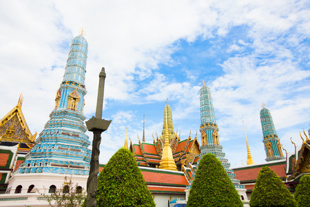 Wat Phra Kaew, Temple of the Emerald Buddha, beautiful architecture landmark Bangkok, Asia Thailand.