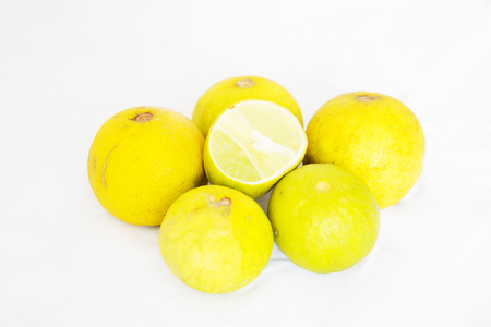 lemon on white ground