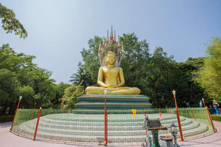 Nacprk Buddha Statue, Chak Yai Temple in Chanthaburi, Thailand. Stock Photo