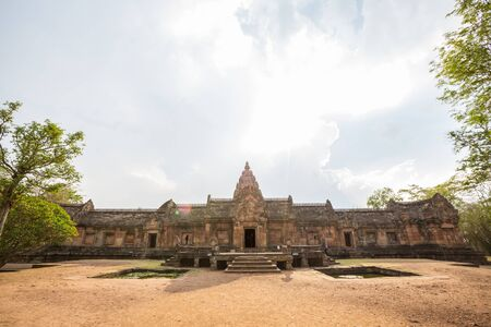 Phanom Rung Historical Park or Phanom Rung is a stone castle in Rachamanka located at Moo 2 (Bandon Marsh duckweed) buriram thailand Stock Photo
