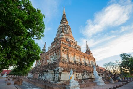 chaimongkol: Wat Yai Chaimongkol temple is regarded as the most important historical sites and temples.The most popular temple in Ayutthaya province. Stock Photo