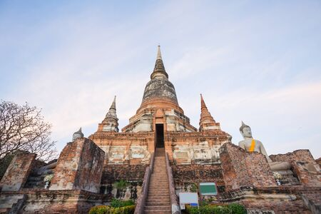 Wat Yai Chaimongkol temple is regarded as the most important historical sites and temples.The most popular temple in Ayutthaya province. Stock Photo