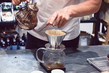 The coffee maker is not modern.coffee accessory. vintage grinder and other accessories for the coffee in an old style