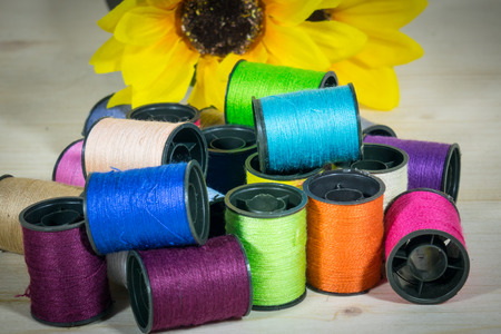 Colorful thread for various fabrics Damaged cloth