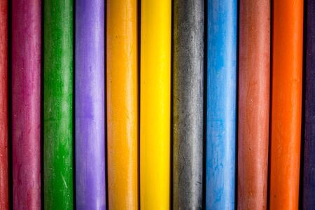 background Crayon ,many colorful ????????????? Stock Photo