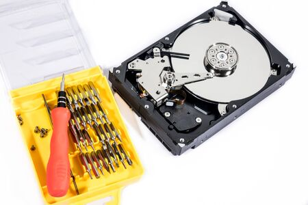 Removable Harddisk Device ,removal fixes internal damaged devices. Stock Photo