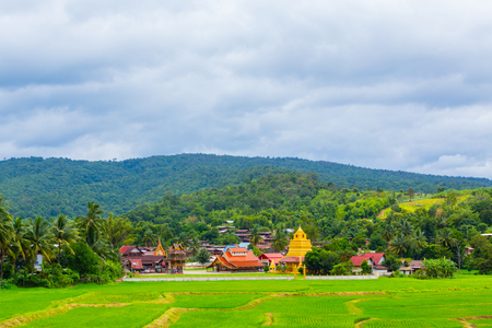 The old temple of the Sangha is over 400 years old, it is the temple of Sri Pho Chai in Thailand. Stock Photo