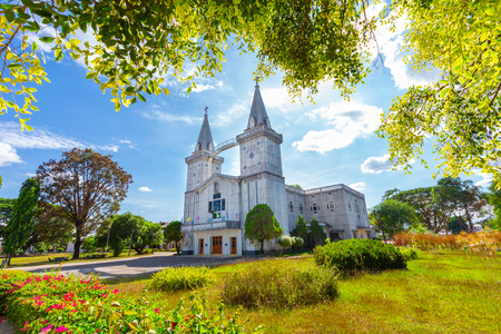 Wat Anna Nong Saeng is a beautiful Christian church in Nakhon Phanom province. Located on the Mekong.