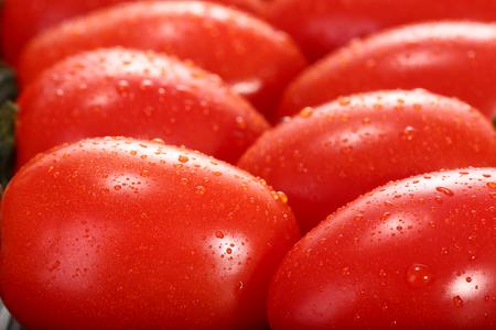 cherry tomatoes: Cherry tomatoes close-up view Stock Photo
