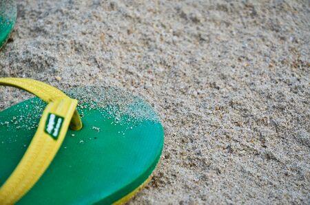 sandal: sandal with sand Foto de archivo