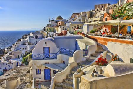 oia: A summer day in Oia, Santorini Greece