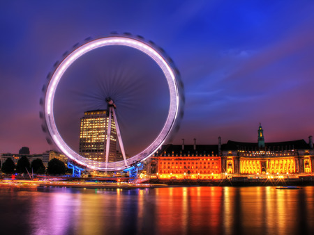 london eye: London Eye at night