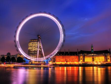 london eye: London Eye at night