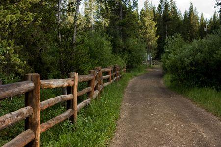 rail roads: Dirt Road at Island Park Idaho