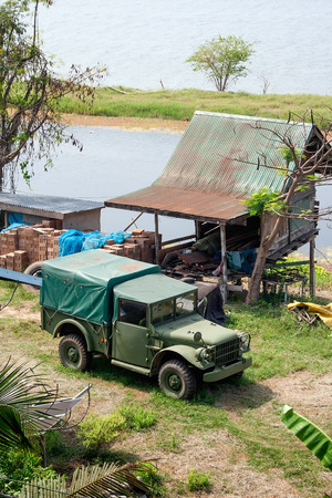 utilized: Military truck is long-lived vehicle because it s utilized by many nations around the world  Stock Photo