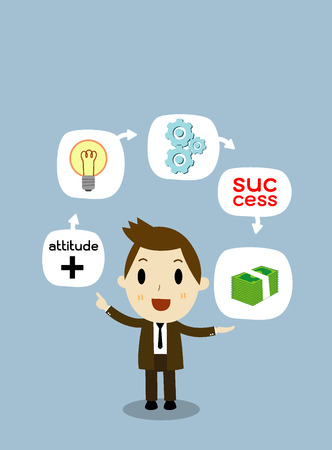 Business concept Make Money from ideas 向量圖像