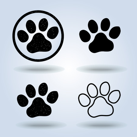 paw paw: paw Print icon , vector
