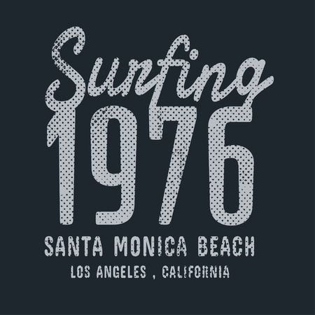 tees: California surf illustration, vectors, t-shirt graphics