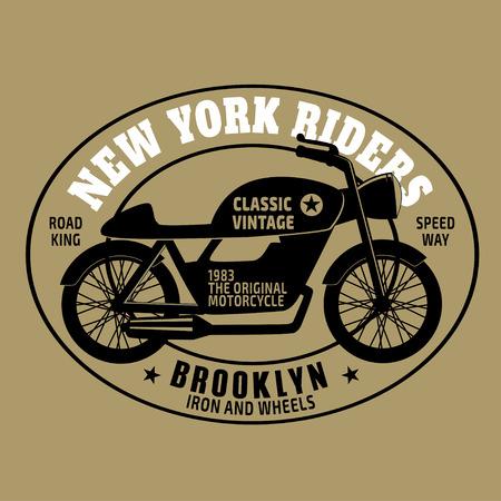 NYC new york rider , vectors, t-shirt  motorcycle graphics Vector