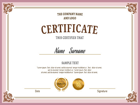 Award Certificate Stock Photos. Royalty Free Award Certificate