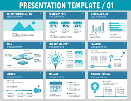 다목적 비즈니스 프레젠테이션 template.Infographic element.business concept.flyer 레이아웃 design.brochure 현대 Style.flat 아이콘 벡터 일러스트 레이 션의 집합입니다
