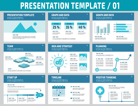 Set of multipurpose business presentation template.Infographic element.business concept.flyer layout design.brochure modern Style.flat icons vector illustration. Vectores