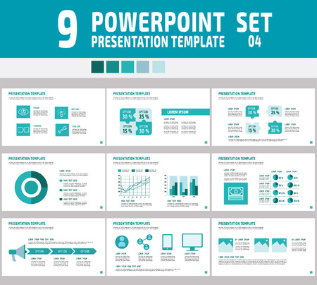 power point: Set von Powerpoint-Mehrzweck-Business-Pr�sentation template.Infographic element.business concept.flyer Layout design.brochure modernen Style.flat icons Vektor-Illustration. Illustration