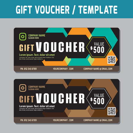 Gift Voucher template.Vector illustration. Illustration