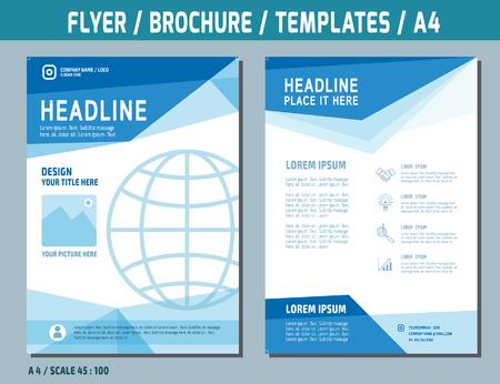 Flyer Design-Vorlage Vektor in A4 size.brochure Broschüre Deckung Jahresbericht layout.Business Konzept Illustration.