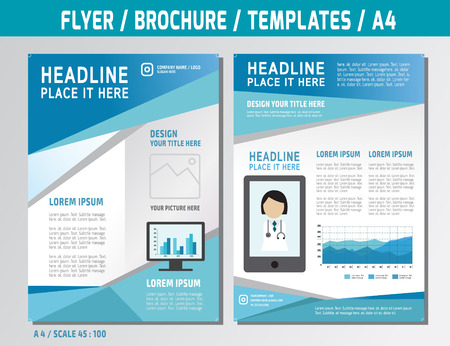 Flyer design template in A4 size Vectores