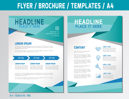 page layout: Flyer design template in A4 size. Medical concept illustration.