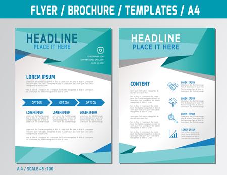 flyer plantilla de diseño de vectores en a4 folleto size brochure