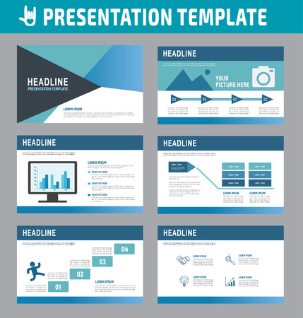 present presentation: Set of multipurpose business presentation template