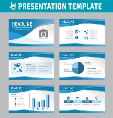 Set of multipurpose business presentation template