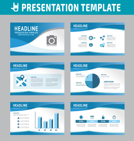Set of multipurpose business presentation template