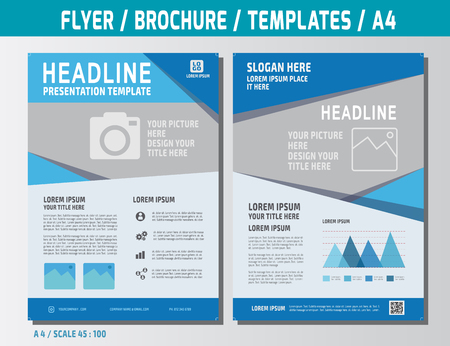 flyer template: Flyer multipurpose design template in A4 size. Business marketing concept illustration.