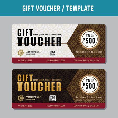 marketting: gift voucher template illustration