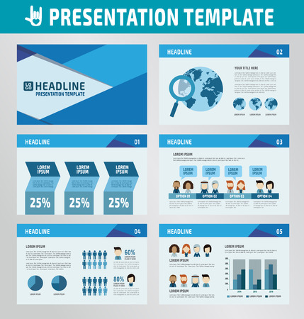 set template: collection of multipurpose presentation template