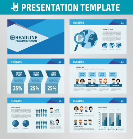verzameling van multifunctionele presentatiesjabloon