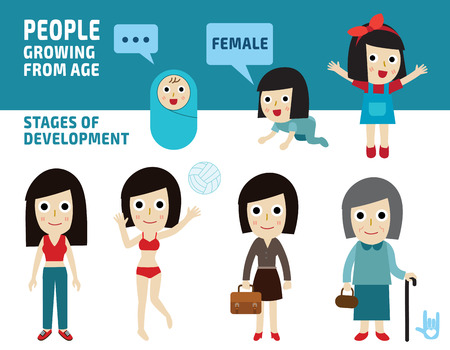 generation of woman from infants to seniors