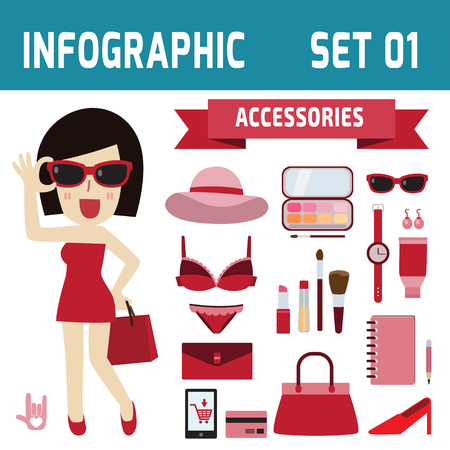 woman accessories: woman and fashion accessories