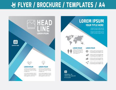 Aviador multiusos diseño de la plantilla de vectores en el folleto size.abstract A4 moderna cubierta style.booklet informe layout.Business concepto de marketing ilustración anual.