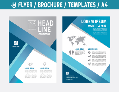 sjabloon: Flyer multifunctionele ontwerp vector template in A4 size.abstract brochure modern style.booklet deksel jaarverslag layout.Business marketing concept illustratie. Stock Illustratie
