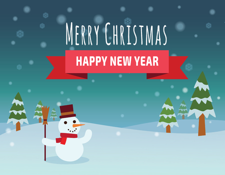 Christmas vector background.Merry Christmas happy new year. vector flat design illustration.