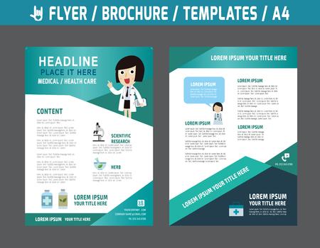 의료 및 건강 관리 concept.abstract 책자 현대 style.wellness 마케팅 그림 A4 size.Templates 또는 배너에 전단 다목적 디자인 벡터 템플릿입니다.