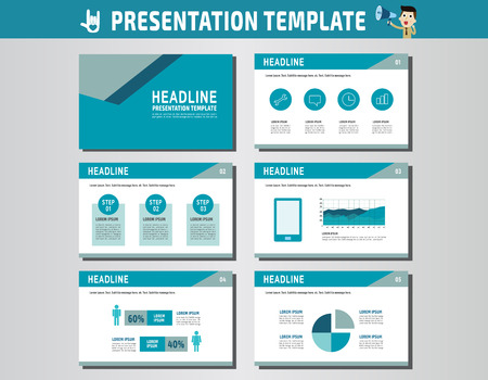 multipurpose: collection of multipurpose presentation template.icons Infographic element.company advert marketing concept.abstract blue flyer layoutbrochure modern style.flat leaflet illustration. Illustration