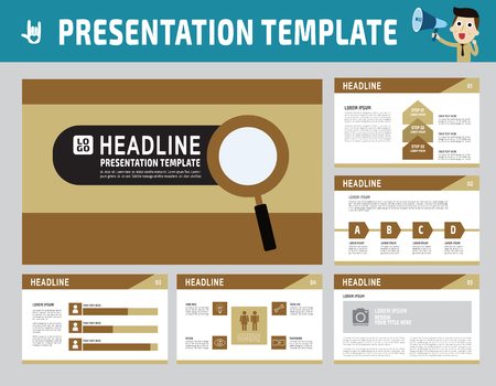 present presentation: collection of multipurpose presentation template.icons Infographic element. company advert marketing concept.abstract polygon flyer layout brochure modern style.flat leaflet illustration.