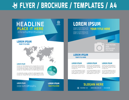 チラシ多目的デザイン ベクトル テンプレート A4 size.abstract パンフレット モダンな style.booklet カバー年次レポート レイアウトです。ビジネス マーケ  イラスト・ベクター素材